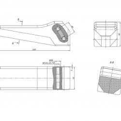 Уширитель гусеницы ТМ-120 (ТМ-130)